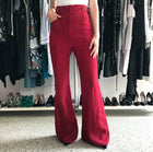Proenza Schouler Pre-fall 2016 Red Extra Long Wide Leg Trouser Pants - 4