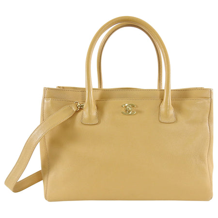 Chanel Beige Leather Executive Cerf Tote Bag