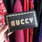Gucci Spring 2018 Guccy Moon and Stars Zip Around Wallet