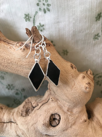 Black Agate Crystal Healing Earrings