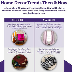 Home Decor Trends Then & Now (Infographic)