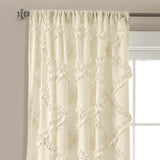 Ruffle Diamond Window Curtain Set