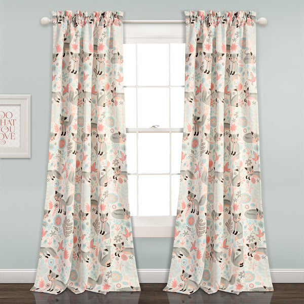 Pixie Fox Room Darkening Window Curtain Panel Set