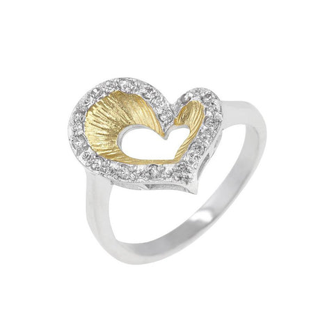 Tapered Heart Ring