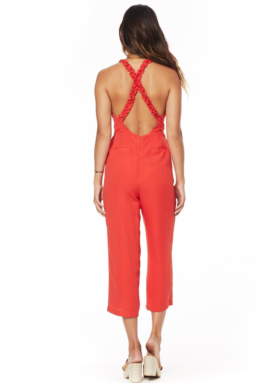 Foxie Jumpsuit - Red
