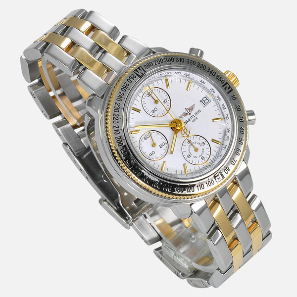Breitling Astromat 18K Gold/SS Limited 700pcs White Dial D20405 - NeoFashionStore