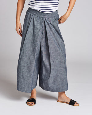 cotton denim culottes