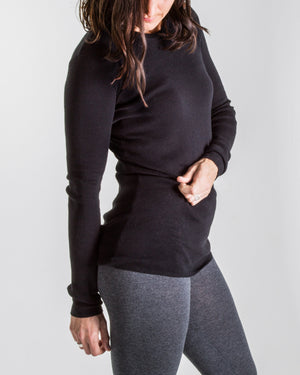 luxe cotton knit - long sleeve tee