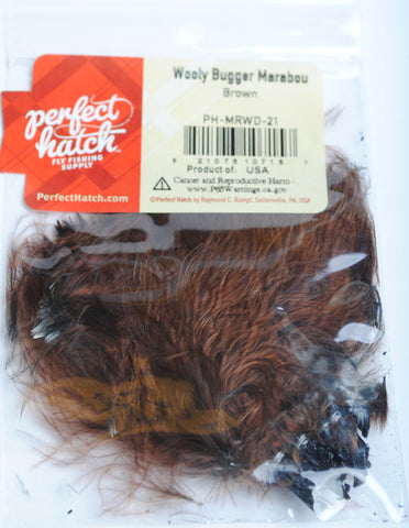 Perfect Hatch Wooly Bugger Marabou brown