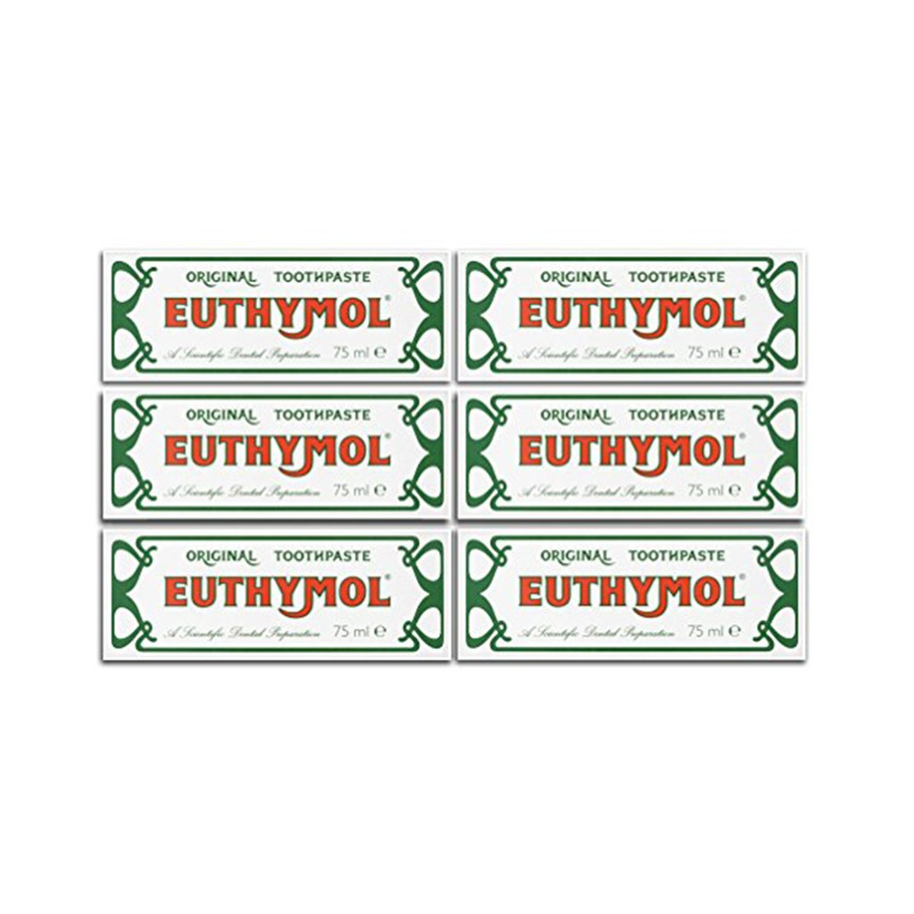 Euthymol Toothpaste -75 ml ( Set of 6 Pcs )-brandstore-oral care- teeth whitening-cavity protection