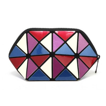 Shop Geomertric Foldable Pouch Exclusively From Brandstore.ae | Lipstick bag | Cosmetic Bag