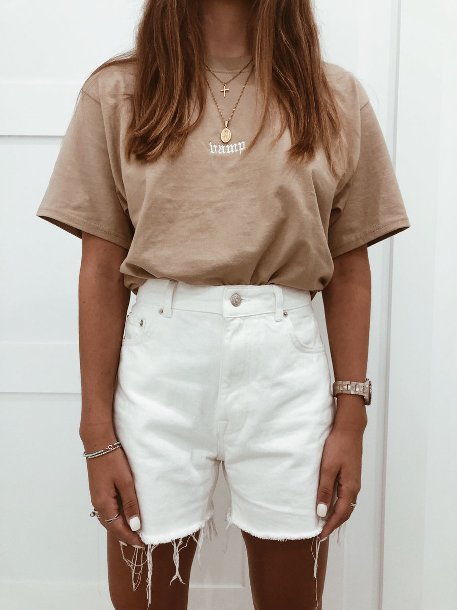 Vamp Embroidered Tee