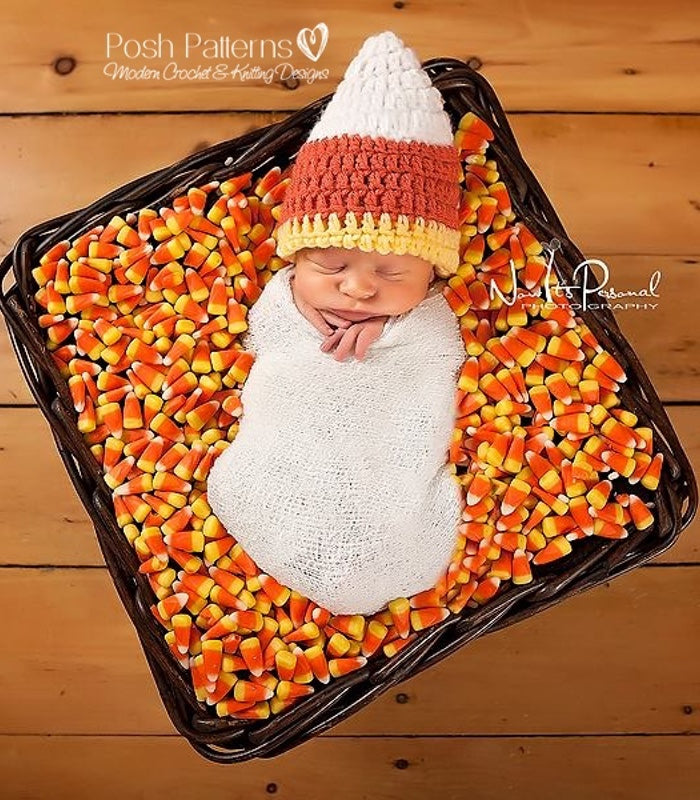 crochet candy corn hat pattern