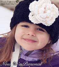 Load image into Gallery viewer, knitting pattern headband and flower