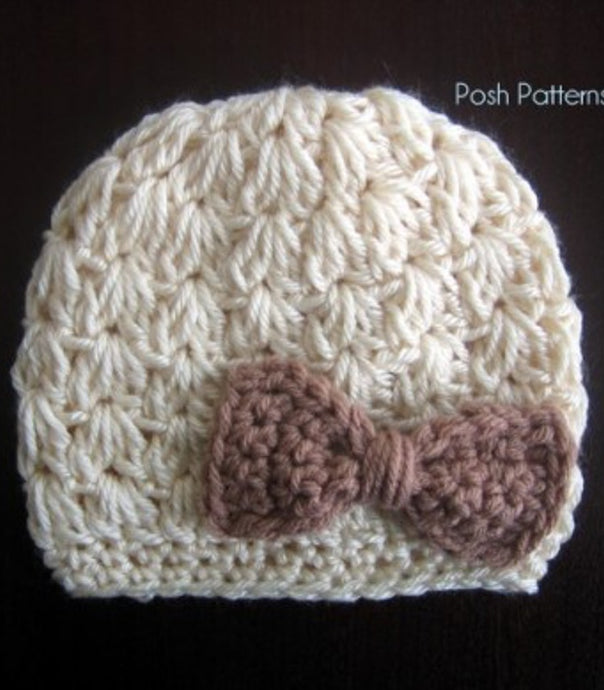 crochet pattern hat and bow