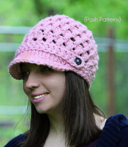 crochet pattern cross stitch hat