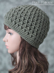 crochet textured beanie pattern