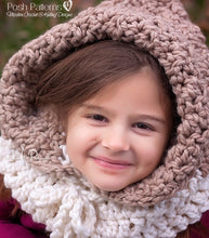 Load image into Gallery viewer, crochet pattern hooded cowl