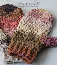 Load image into Gallery viewer, crochet pattern easy mittens