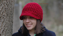 Load image into Gallery viewer, chunky newsboy hat crochet pattern