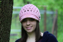 Load image into Gallery viewer, womens crochet hat pattern