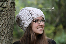 Load image into Gallery viewer, cable hat crochet pattern