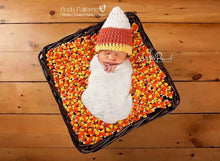 Load image into Gallery viewer, crochet candy corn hat pattern