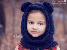 Load image into Gallery viewer, bear hood knitting pattern
