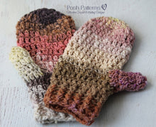 Load image into Gallery viewer, crochet mittens pattern
