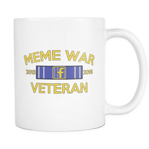 Meme War Veteran Mug WHITE