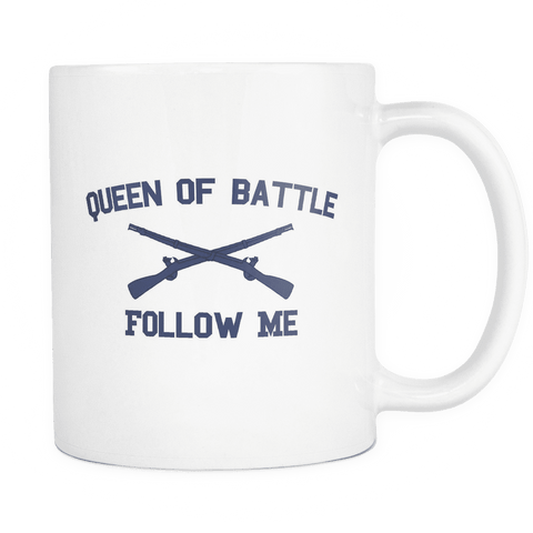 Infantry Queen of Battle Mug WHITE