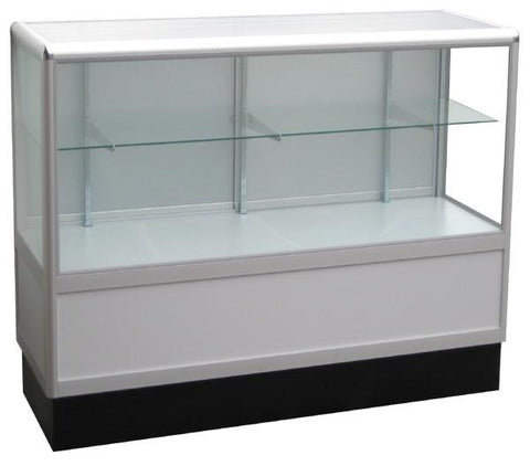 Product Display Case With Aluminum Frames In Half Vision - 60 x 38 x20 - Inch