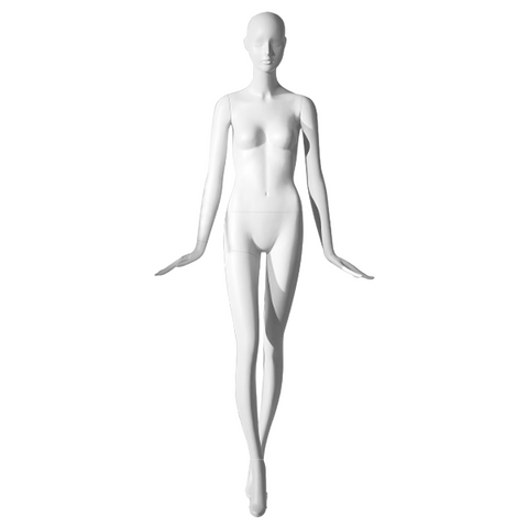 Female mannequin with arms to the side