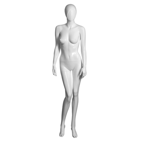 Female white mannequin with arms to side Samantha-1