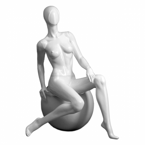 Female mannequin with round stool Samantha/5
