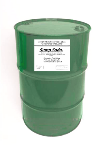 Sump Soda - 55 gallon drum; Eliminates Foul odors.  Prolongs coolant life.  Controls bacteria growth.