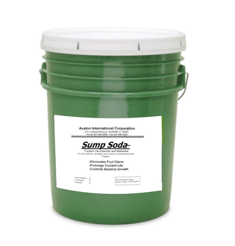 Sump Soda - 5 gallon pail; Eliminates Foul odors.  Prolongs coolant life.  Controls bacteria growth.