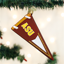 Arizona State University Glass Pennant