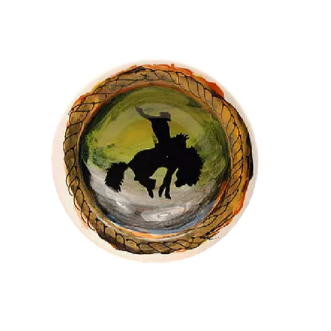 Assiette décorative Bucking Bronco
