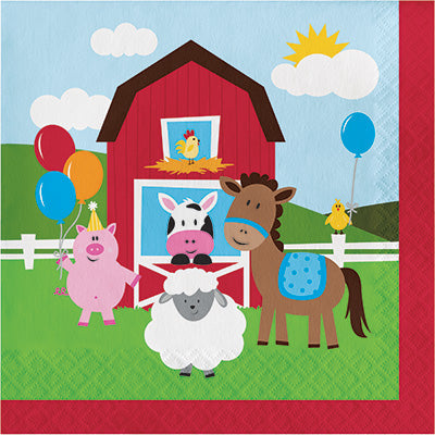 Farmhouse Fun Luncheon Napkins-18 Count/2 Ply