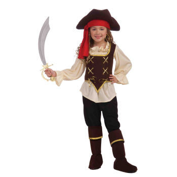 Buccaneer Pirate Girl's Costume