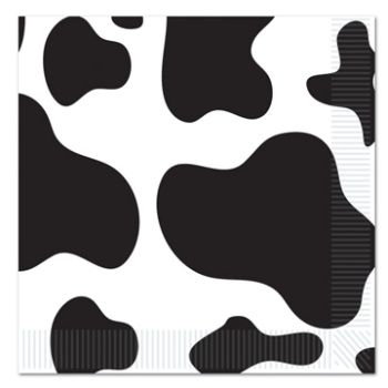 Cow Print Napkins/16 Count/2 Ply - Dessert Size