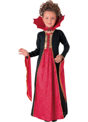 Red Gothic Vampiress Princess Kid's Costume