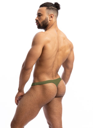 BB9L Little Beach Olive Thong