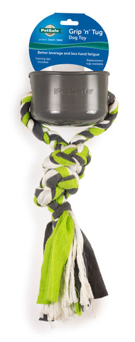 PetSafe Grip 'n Tug Dog Rope Toy with Plastic Handle