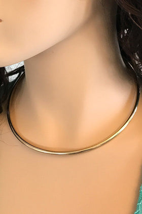 Completely Charming Rose Gold Collar Necklace 1