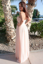 First Comes Love Blush Pink Strapless Maxi Dress 2