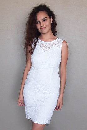 Flirting With Desire White Lace Midi Dress 1