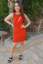 Girl In The Mirror Glam Red Cutout Bodycon Dress 4