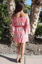 Give Me A Print Pink Print Off The Shoulder Dress 3